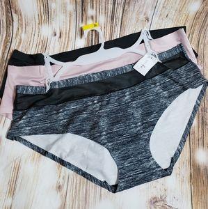 3 Pack Panties Seamless Smooth Underwear Plus